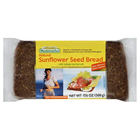 Mestemacher Sunflower Seed Bread with Whole Rye Kernels, 17.6 Oz (Pack of 12)