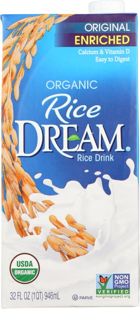 Rice Dream Original Enriched Organic Rice Drink, 32 fl oz (Pack of 12)