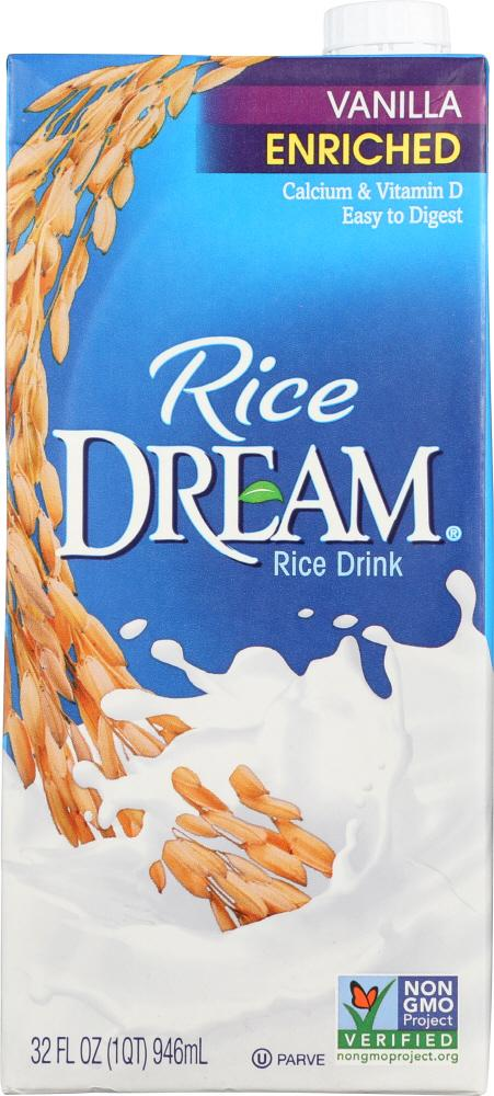 Rice Dream Vanilla Enriched Rice Drink, 32 fl oz (Pack of 12)