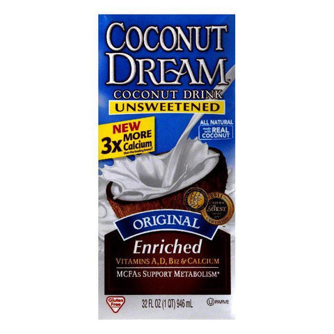 Coconut Dream Original Enriched Unsweetened Coconut Milk, 32 FO (Pack of 12)
