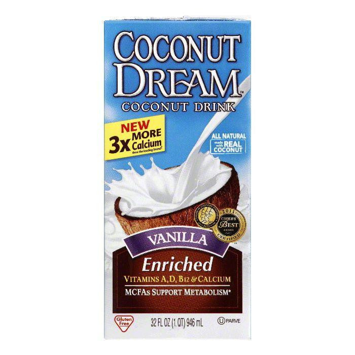 Coconut Dream Vanilla Enriched Coconut Milk, 32 FO (Pack of 12)