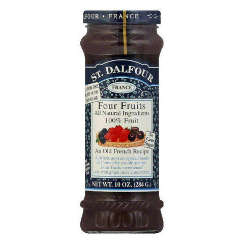 St. Dalfour Four Fruit Conserves, 10 OZ (Pack of 6)
