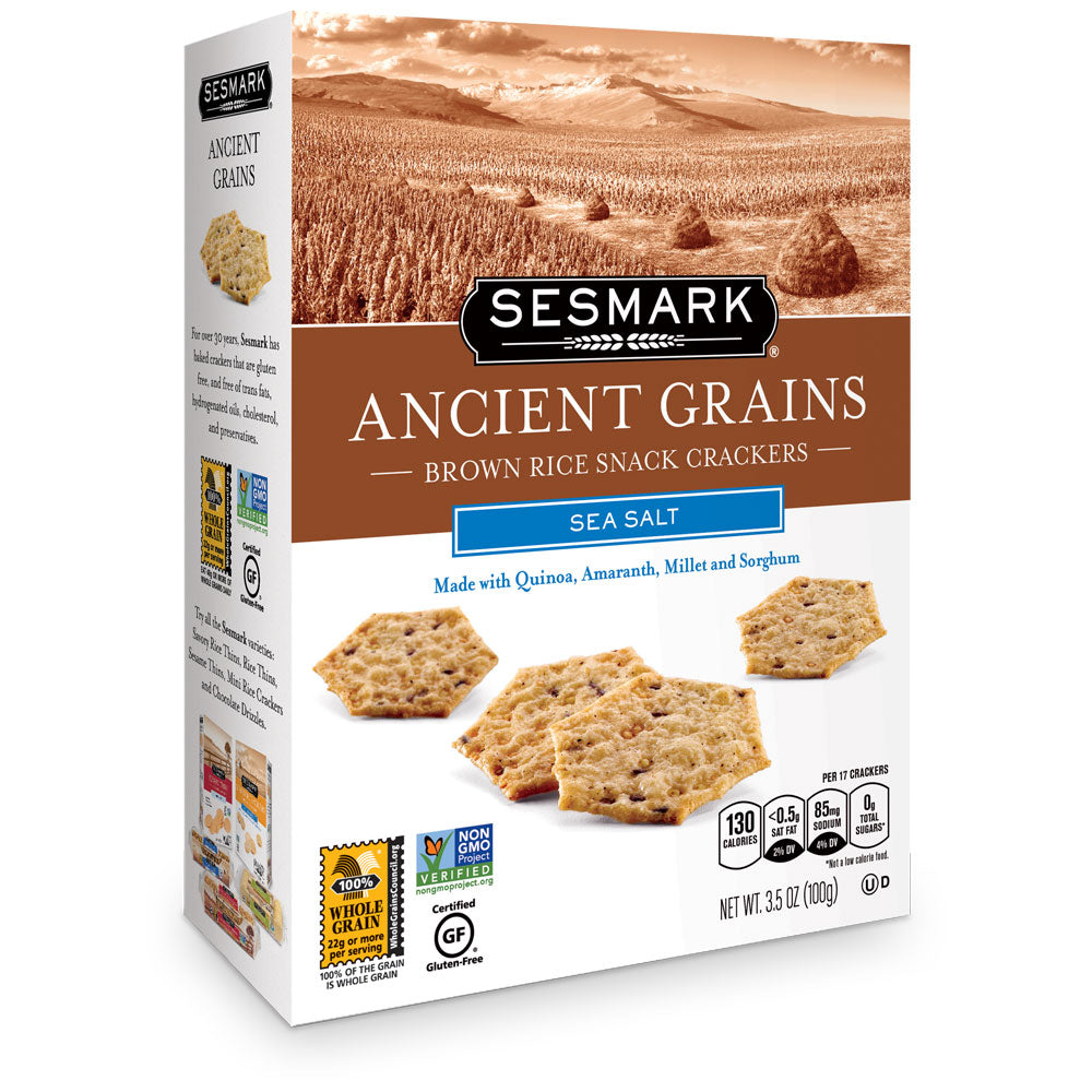 Sesmark Ancient Grains, Sea Salt, 3.5 Oz (Pack of 6)