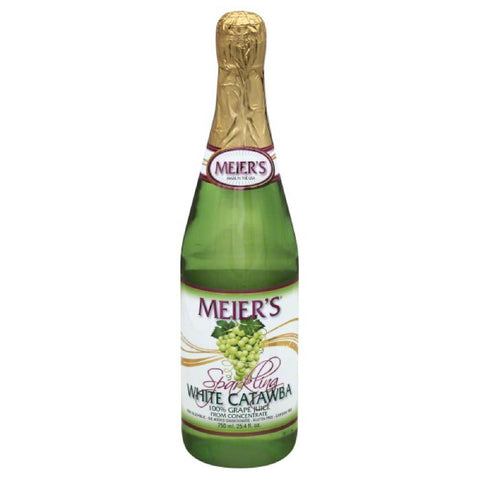 Meiers White Catawba Sparkling Grape 100% Juice, 25.4 Fo (Pack of 12)