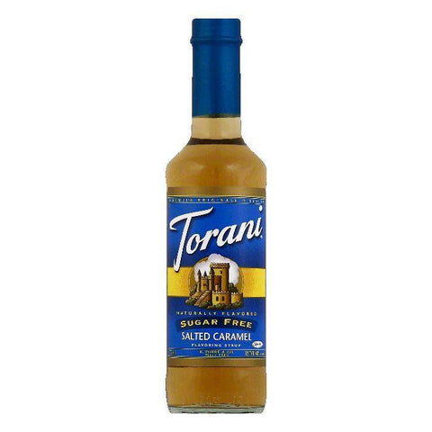Torani Sugar Free Salted Caramel Flavoring Syrup, 12.7 OZ (Pack of 6)