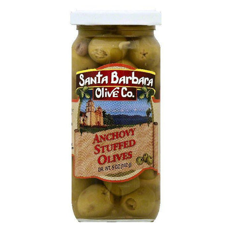 Santa Barbara Anchovy Stuffed Olives, 5 OZ (Pack of 6)