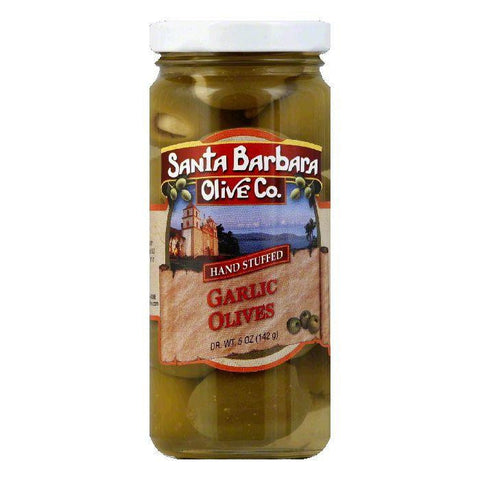 Santa Barbara Olives Stuffed Garlic, 5 OZ (Pack of 6)