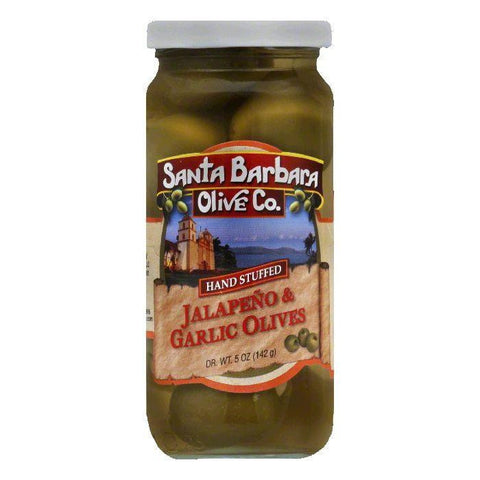 Santa Barbara Olives Stuffed Double, 5 OZ (Pack of 6)