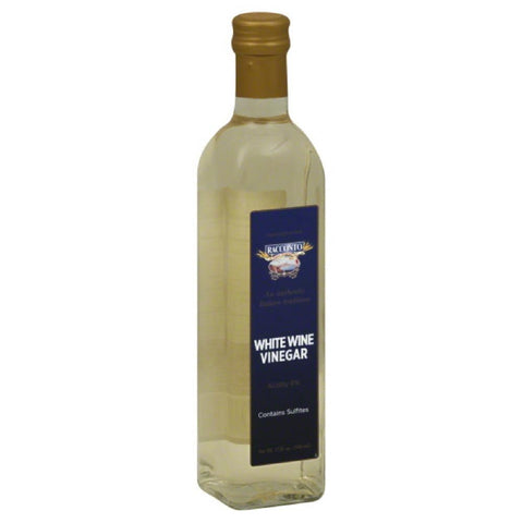 Racconto Vinegar White Wine, 17 Oz (Pack of 6)