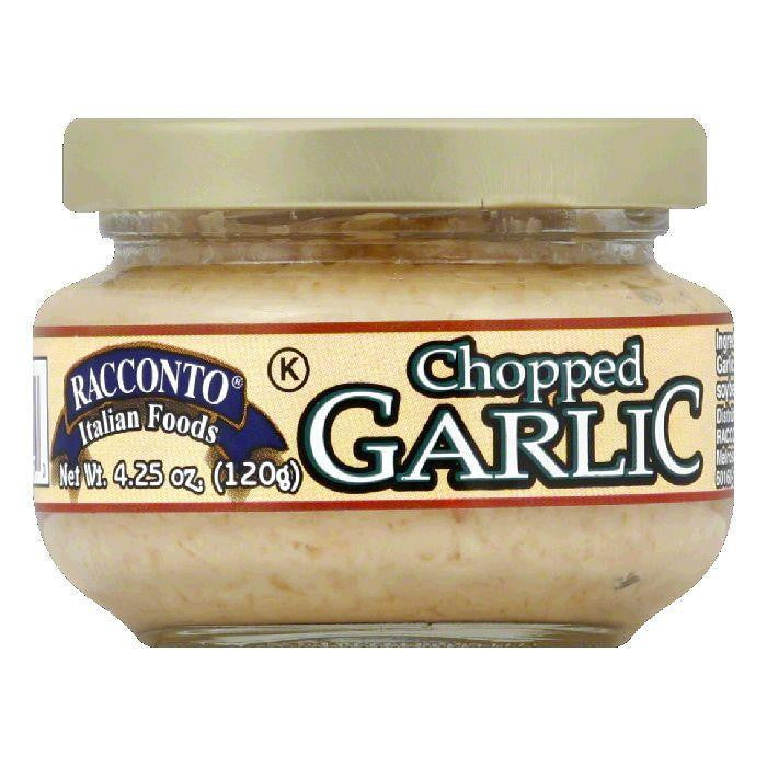 Racconto Garlic Chopped, 4.25 OZ (Pack of 12)
