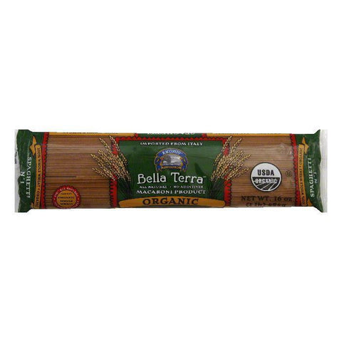 Bella Terra Pasta Spaghetti Whole Wheat Organic, 16 OZ (Pack of 12)