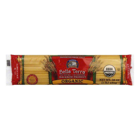 Bella Terra Pasta Linguine Organic, 16 OZ (Pack of 12)