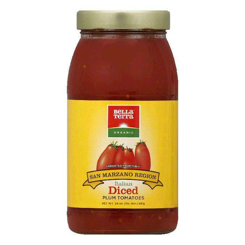 Bella Terra Diced Italian Plum Tomatoes, 24 OZ (Pack of 6)