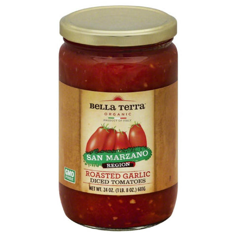 Bella Terra Roasted Garlic Diced Tomatoes, 24 Oz (Pack of 6)
