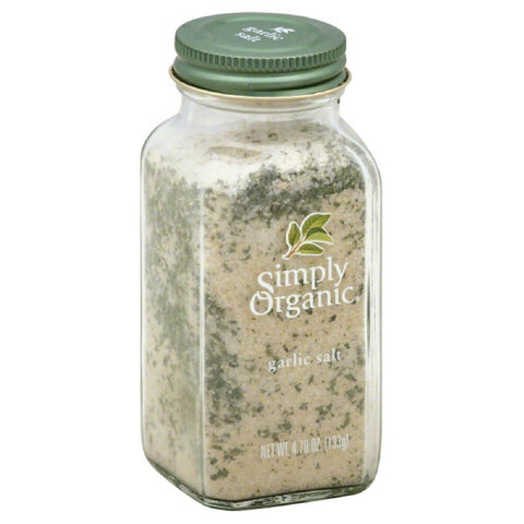Simply Organic Garlic Salt, 4.7 Oz (Pack of 6)