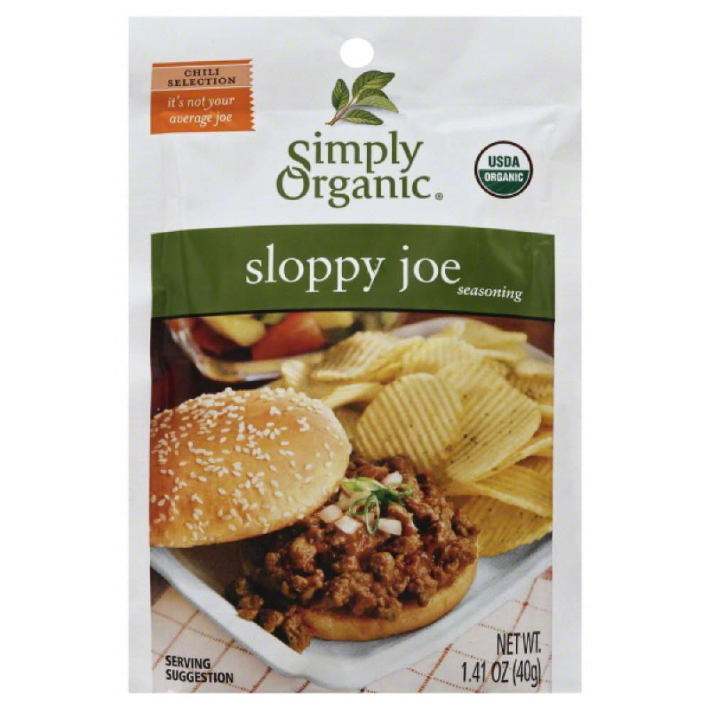 Simply Organic Sloppy Joe Seasoning, 1.41 Oz (Pack of 12)