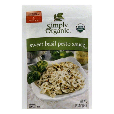 Simply Organic Sweet Basil Pesto Mix, 0.5 OZ (Pack of 12)