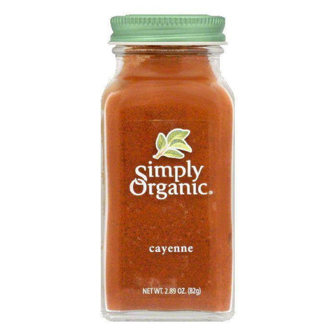 Simply Organic Cayenne Pepper Organic, 2.89 OZ (Pack of 6)