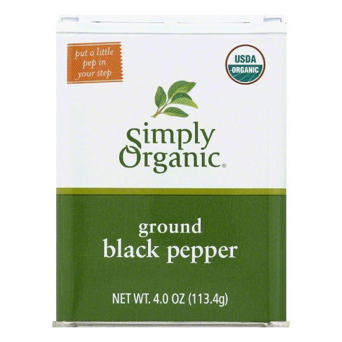 Simply Organic Ground Black Pepper, 4 Oz (Pack of 6)