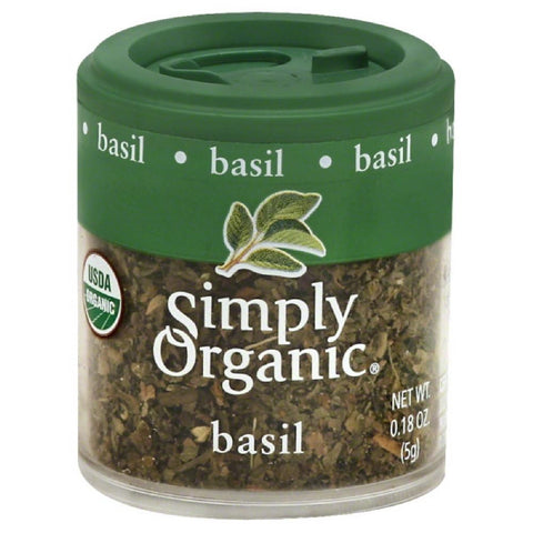 Simply Organic Basil, 0.18 Oz (Pack of 6)