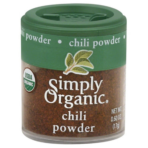 Simply Organic Chili Powder, 0.6 Oz (Pack of 6)