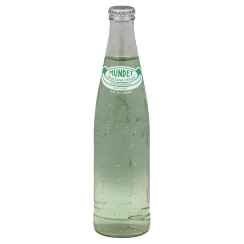 Sidral Mundet Green Apple Flavored Soda, 12 Oz (Pack of 24)