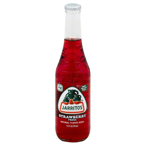 Jarritos Strawberry Soda, 12.5 Oz (Pack of 24)