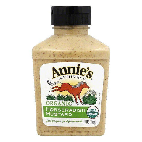 Annies Horseradish Mustard Natural Organic, 9 OZ (Pack of 12)