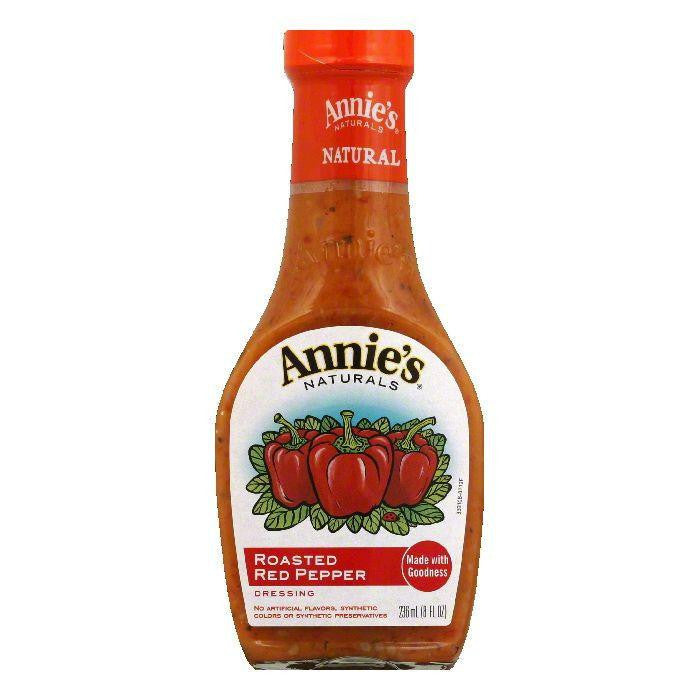 Annies Dressing Roasted Red Pepper Vinaigrette, 8 OZ (Pack of 6)