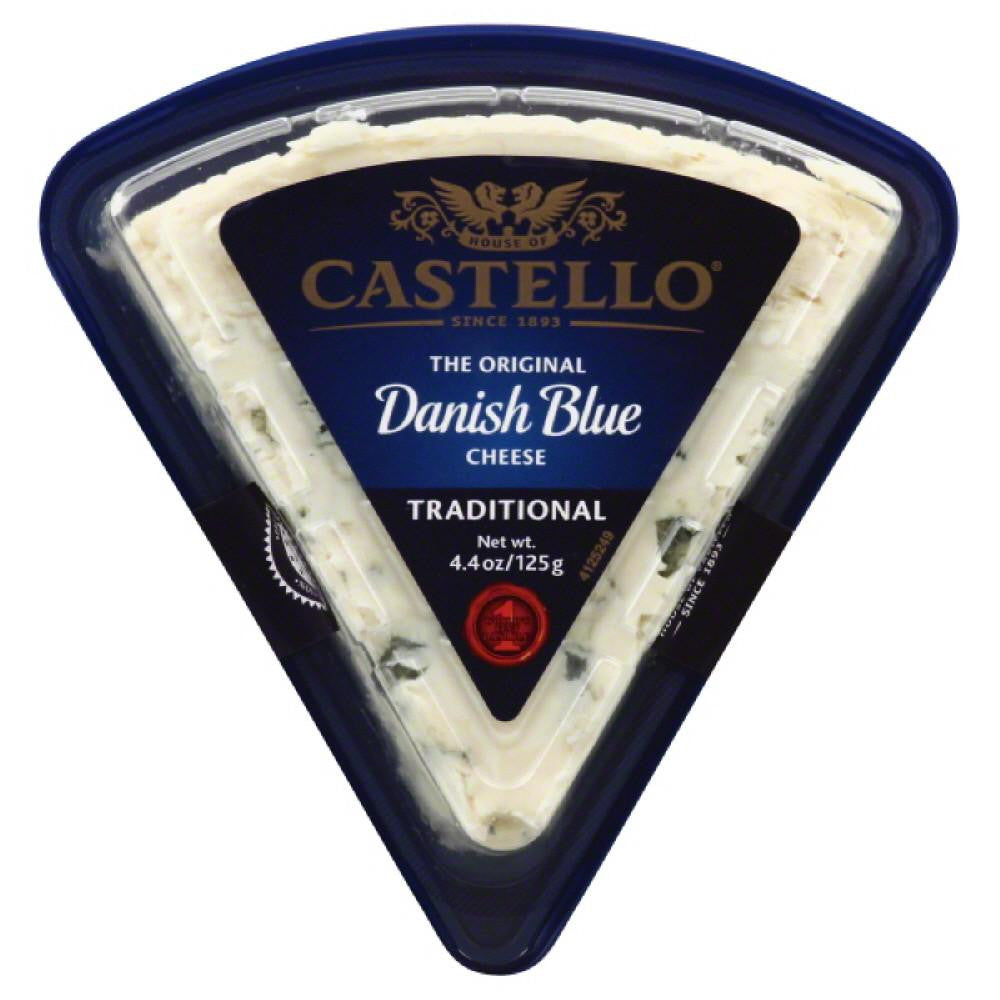Castello Danish Blue Traditional Cheese, 4.4 Oz (Pack of 8)