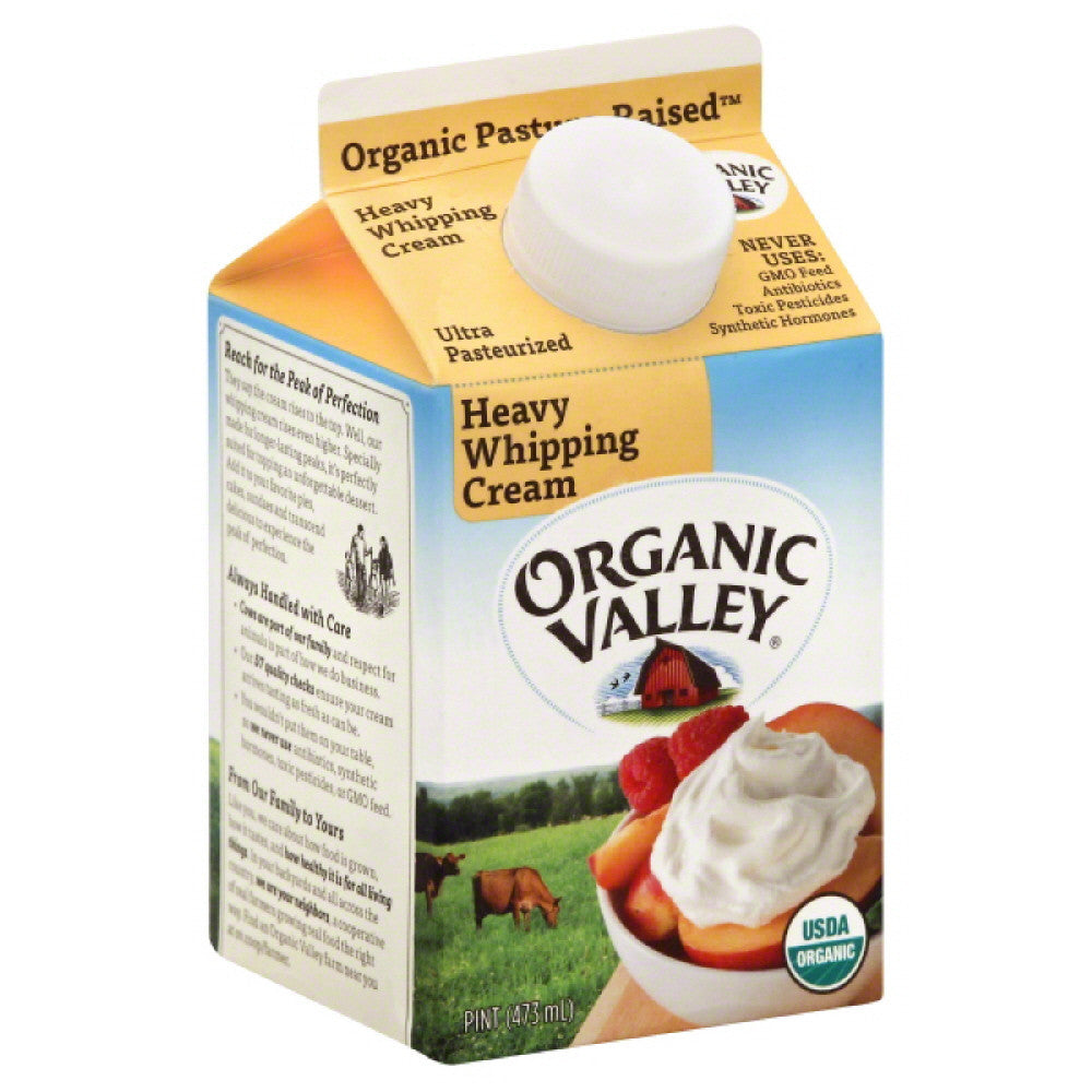 Organic Valley Heavy Whipping Cream, 16 Oz (Pack of 12)