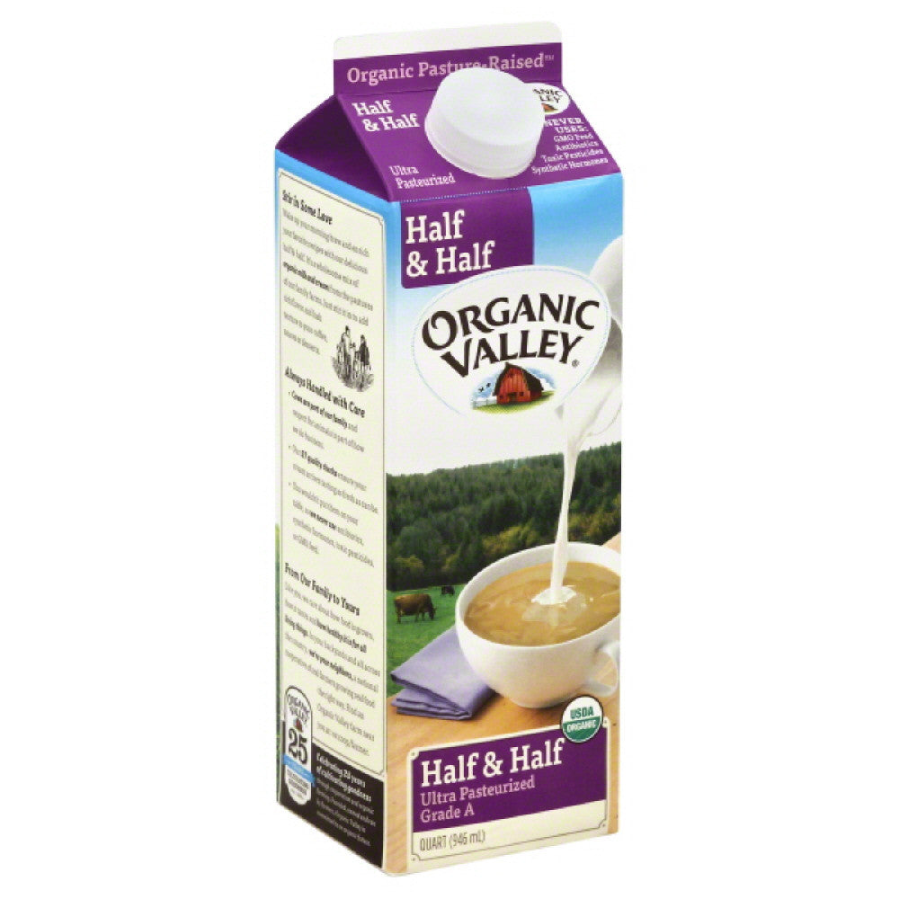 Organic Valley Half & Half, 32 Oz (Pack of 12)