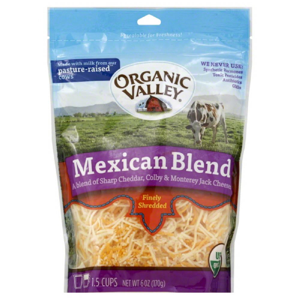Organic Valley Mexican Blend Finely Shredded Cheese, 6 Oz (Pack of 12)