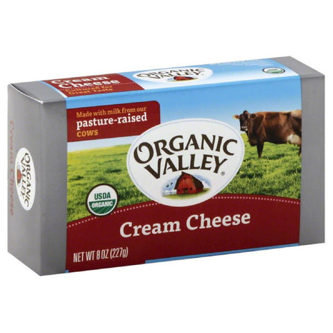Organic Valley Cream Cheese, 8 Oz (Pack of 12)