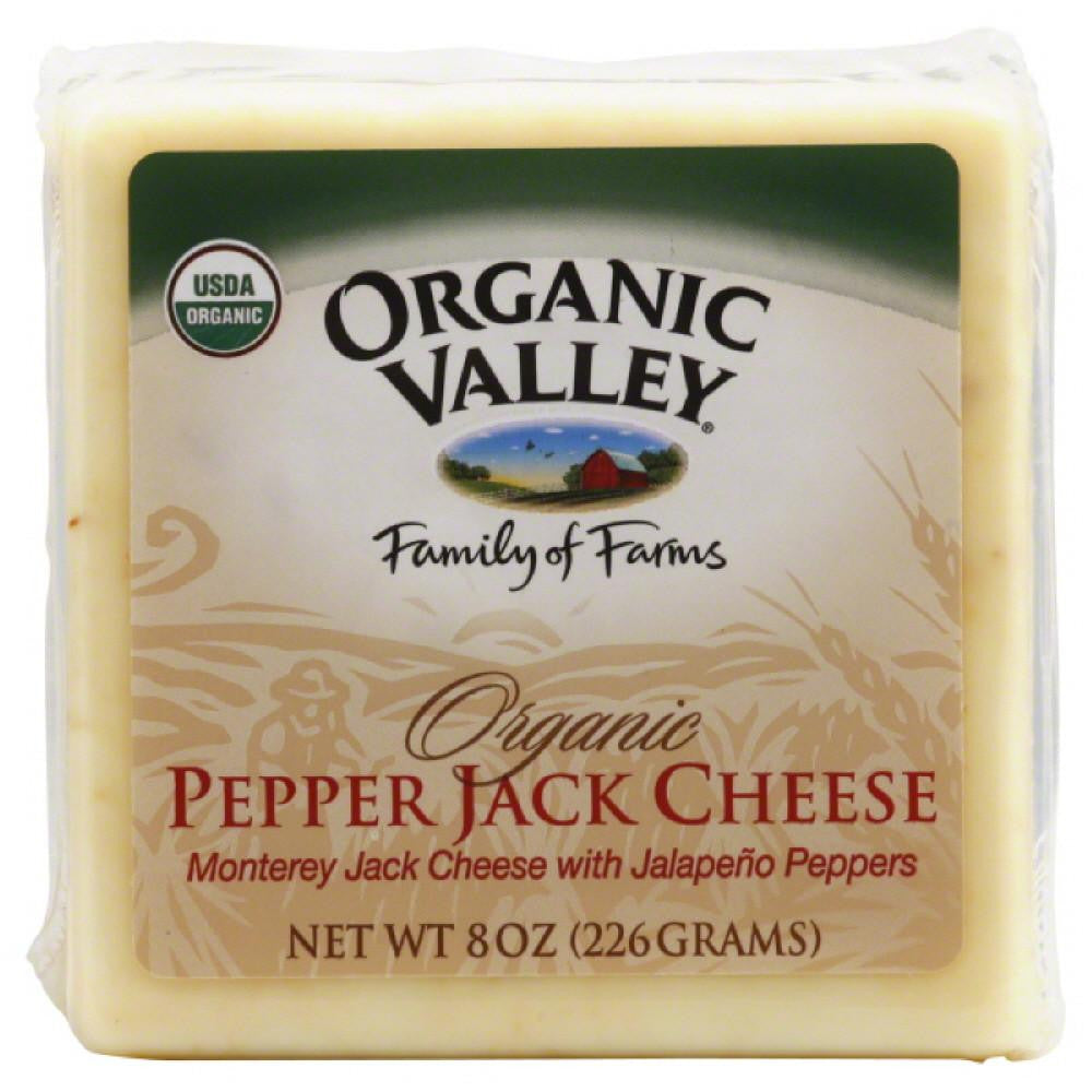 Organic Valley Pepper Jack Cheese, 8 Oz (Pack of 12)