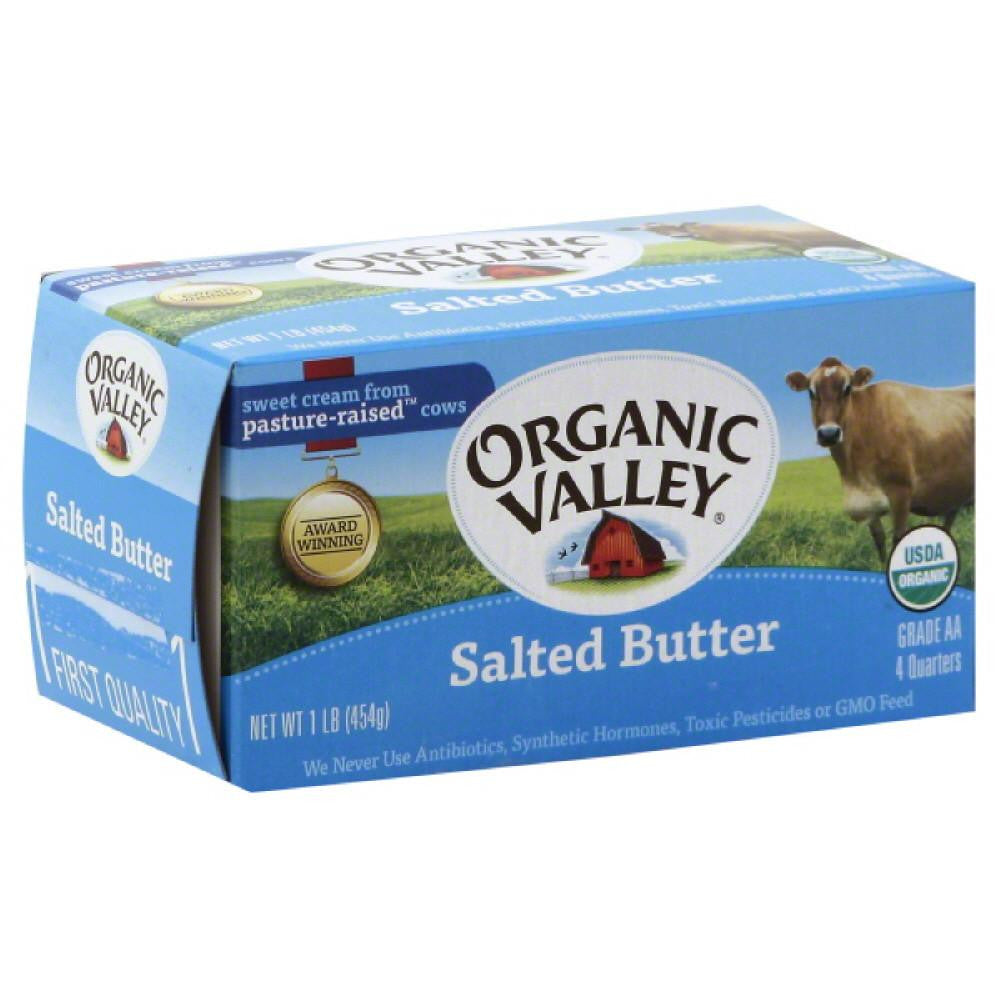 Organic Valley Salted Butter, 16 Oz (Pack of 15)