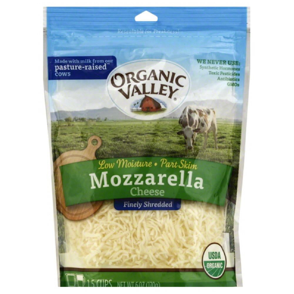 Organic Valley Mozzarella Finely Shredded Cheese, 6 Oz (Pack of 12)