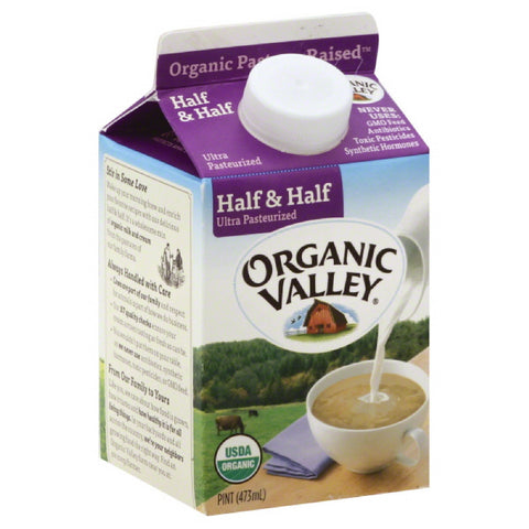 Organic Valley Half & Half, 16 Oz (Pack of 12)