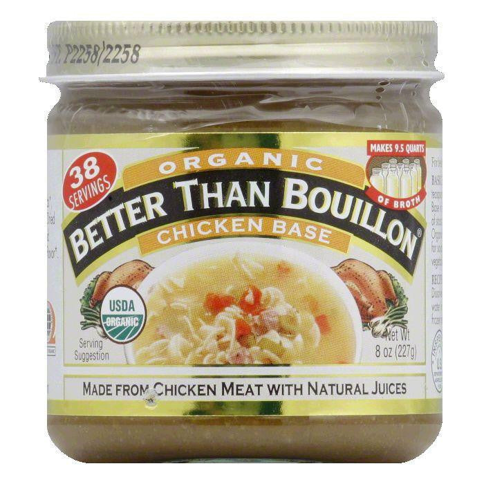 Better Than Bouillon Base Organic Chicken, 8 OZ (Pack of 6)