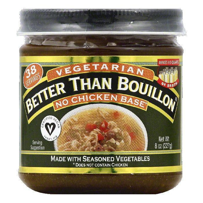 Better Than Bouillon Vegetarian No Chicken Base, 8 OZ (Pack of 6)