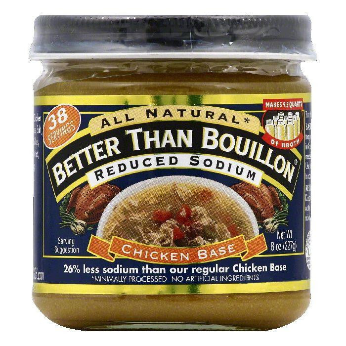 Better Than Bouillon Reduced Sodium Chicken Base, 8 OZ (Pack of 6)