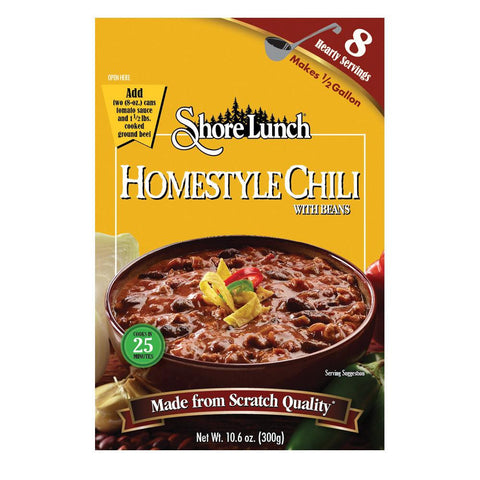 Shore Lunch Homestyle Chili with Beans, 10.6 OZ (Pack of 6)