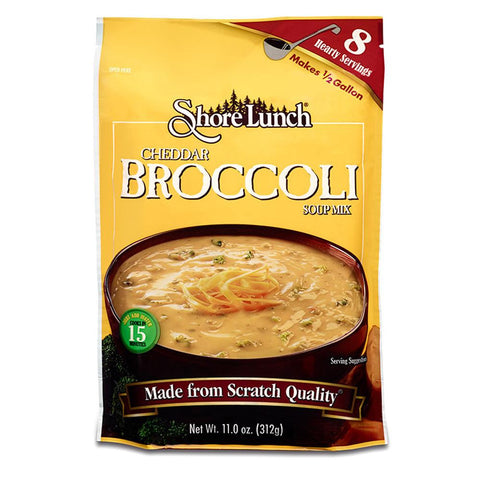 Shore Lunch Cheddar Broccoli Soup Mix, 11 OZ (Pack of 6)