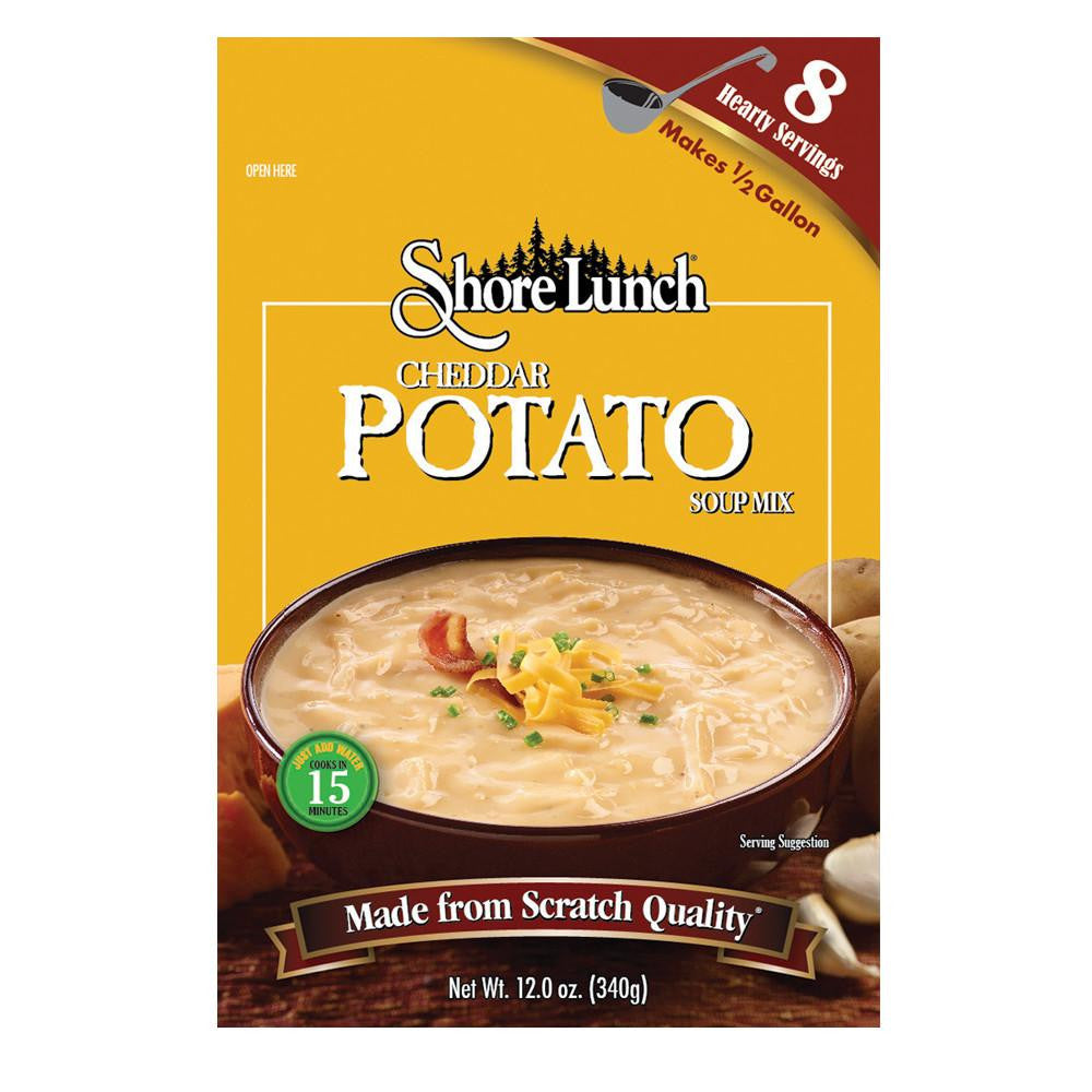 Shore Lunch Cheddar Potato Soup Mix, 12 OZ (Pack of 6)