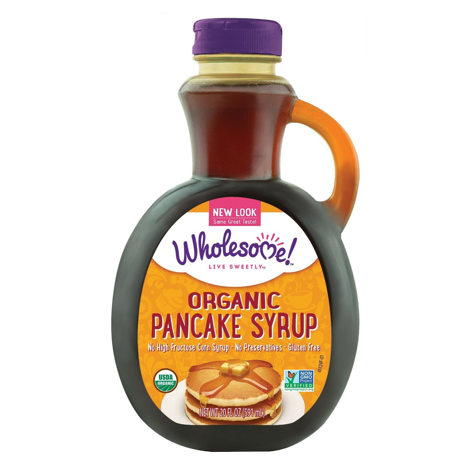 Wholesome Sweeteners Original Organic Pancake Syrup, 20 OZ (Pack of 6)