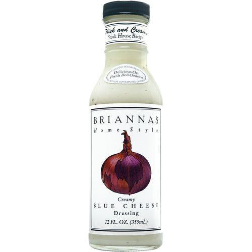 Briannas True Blue Cheese Home Style Dressing, 12 OZ (Pack of 6)