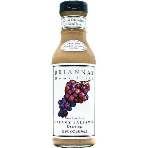 Briannas Dressing Creamy Balsamic, 12 OZ (Pack of 6)
