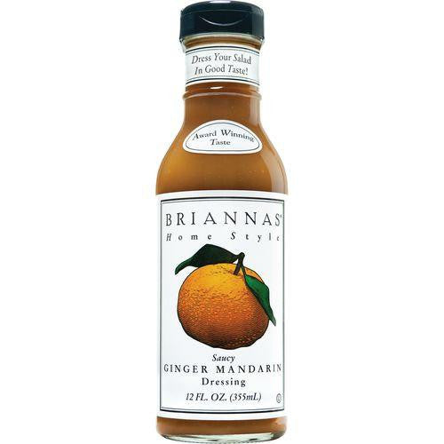 Briannas Saucy Ginger Mandarin Home Style Dressing, 12 OZ (Pack of 6)