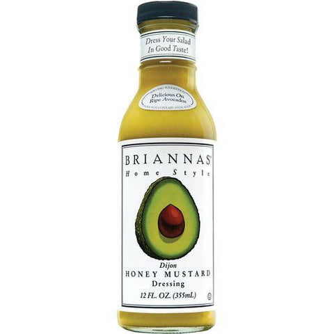 Briannas Home Style Dressing, Dijon Honey Mustard, 12 OZ (Pack of 6)