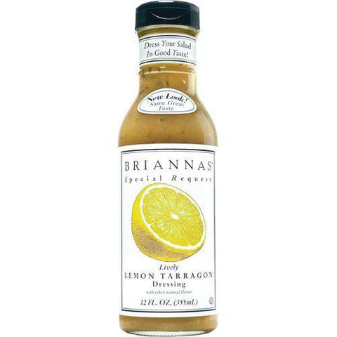 Briannas Lemon Tarragon Dressing, 12 OZ (Pack of 6)